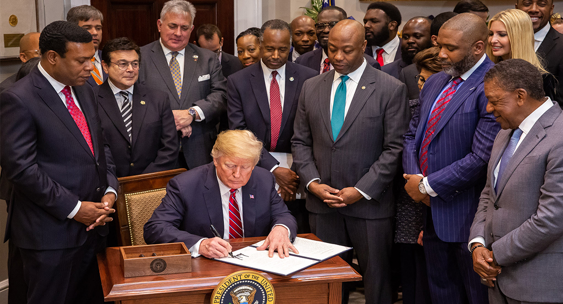 President Trump signs the Executive Order establishing the White House Opportunity and Revitalization Council