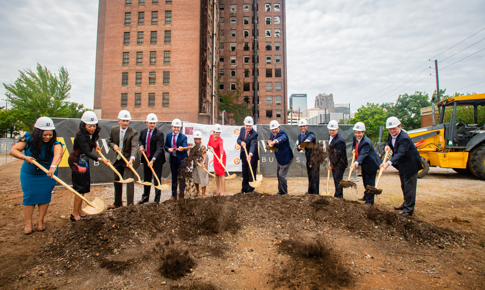 Executive Director Turner participates in an Opportunity Zone groundbreaking