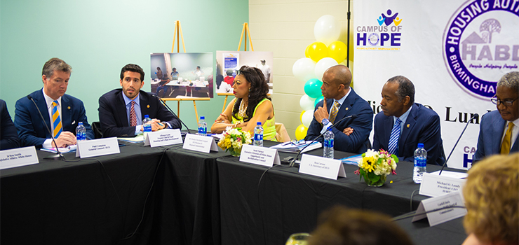 Secretary Carson and Executive Director Turner participate in an Opportunity Zones roundtable in Birmingham, AL