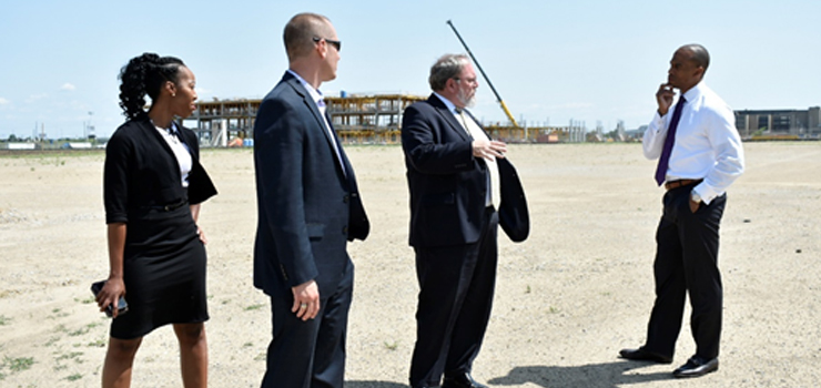 Executive Director Turner tours an Indiana Opportunity Zone project site