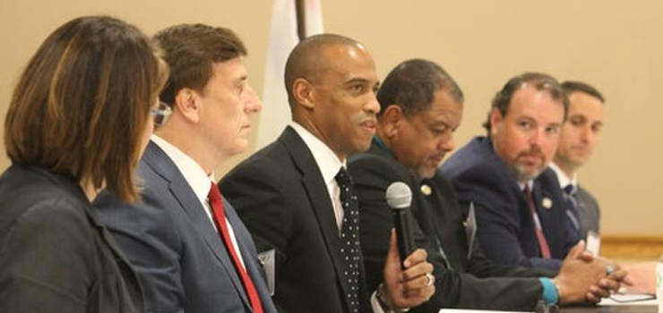 Executive Director Turner and Dr. John Fleming, Assistant Secretary of Commerce for Economic Development, lead participants in Opportunity Zones events in Lafayette, LA