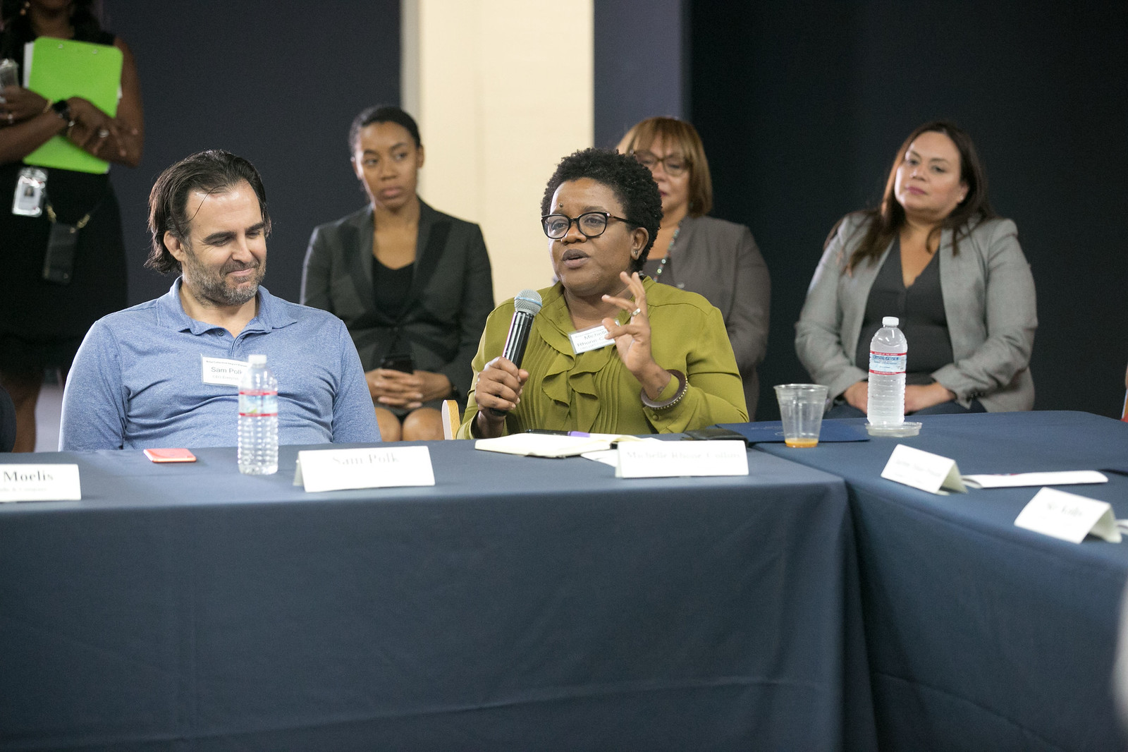 Los Angeles community members participate in an Opportunity Zone revitalization event