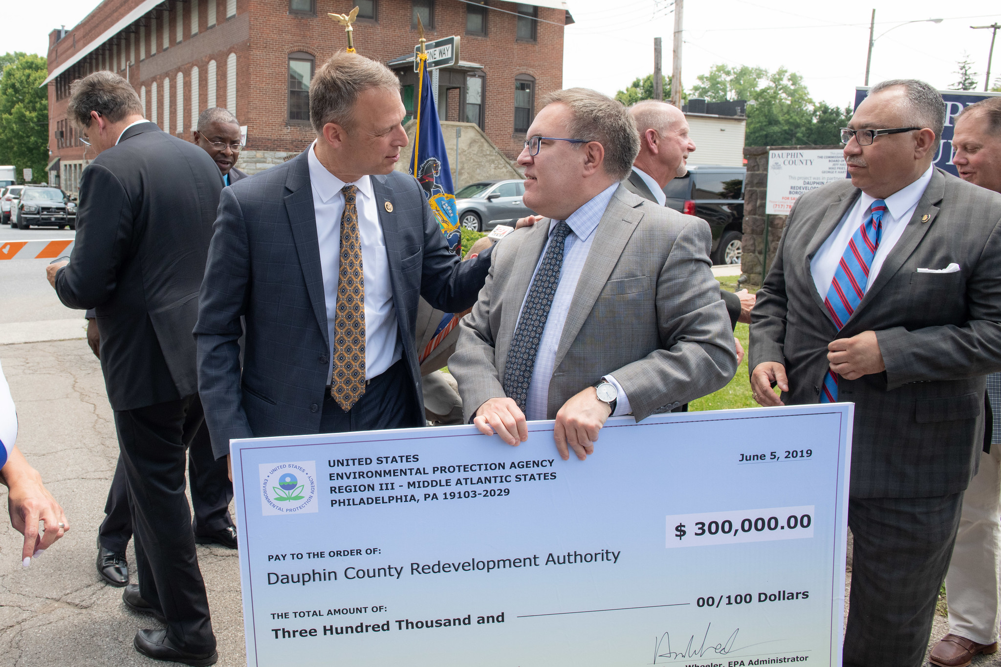 Congressman Scott Perry welcomes EPA Administrator Andrew Wheeler as he announces funding to address contaminated properties in Dauphin County, PA