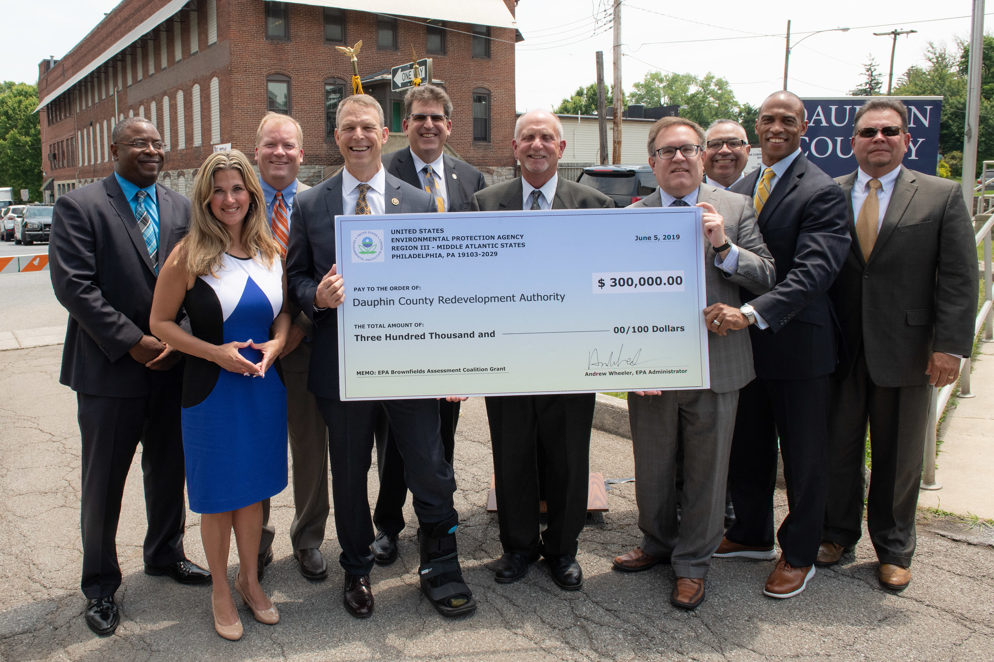EPA Administrator Andrew Wheeler announces funding for Brownfields in Dauphin County, PA