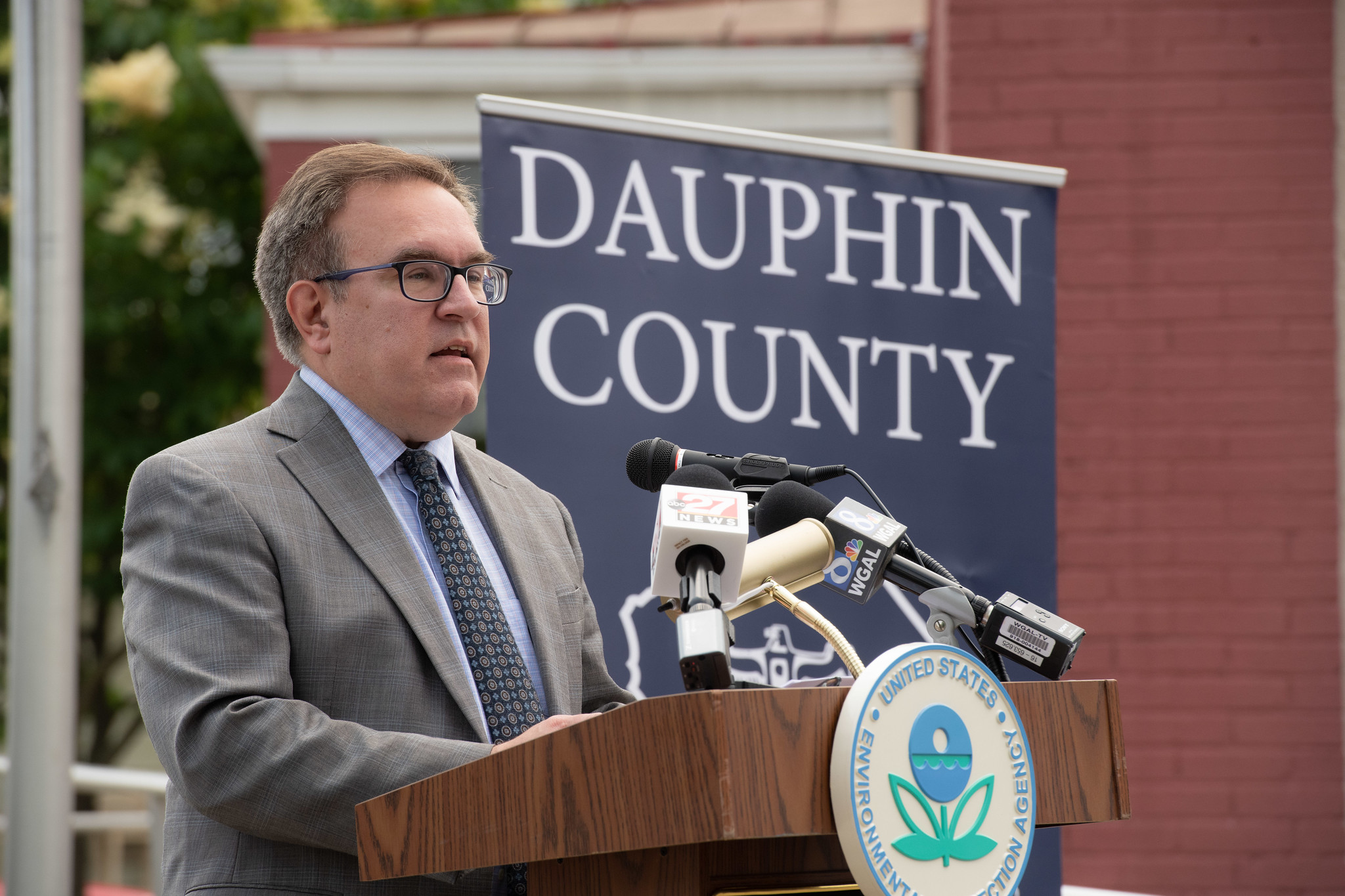 Pennsylvania leaders join EPA Administrator Andrew Wheeler and Executive Director Turner at an Opportunity Zones Brownfields event