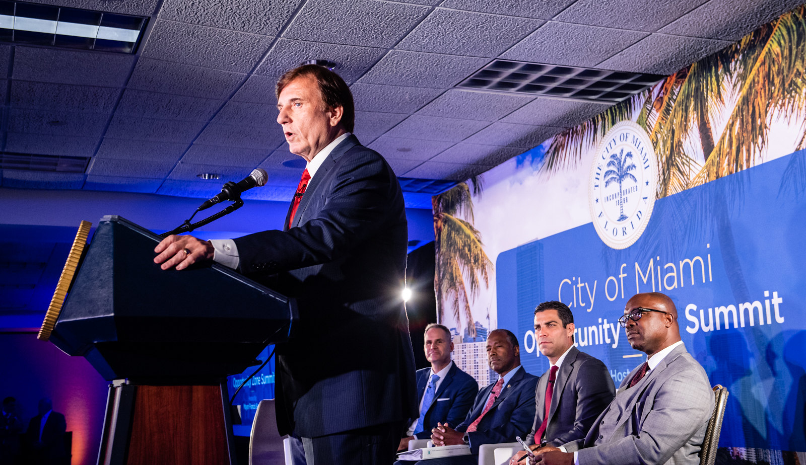 Assistant Secretary Fleming speaks at the City of Miami's Opportunity Zone Summit