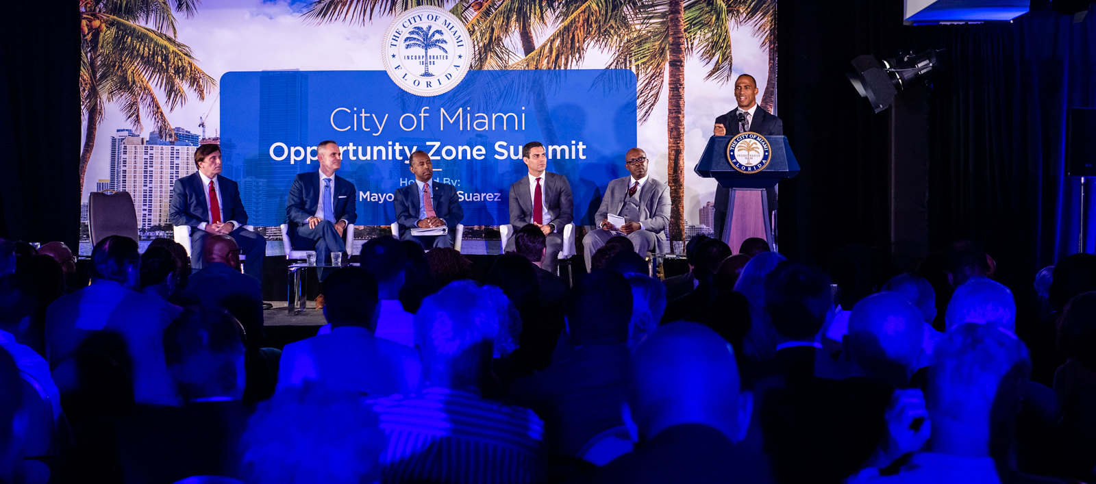 Executive Director Turner speaks to Miami community members about the Opportunity Zones incentive