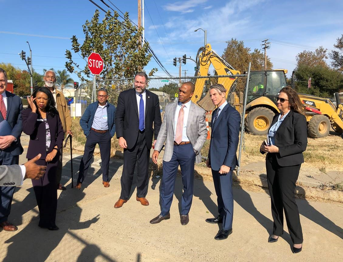 Executive Director Turner, along with HUD and EDA team members, participates in a tour of Sacramento Opportunity Zones