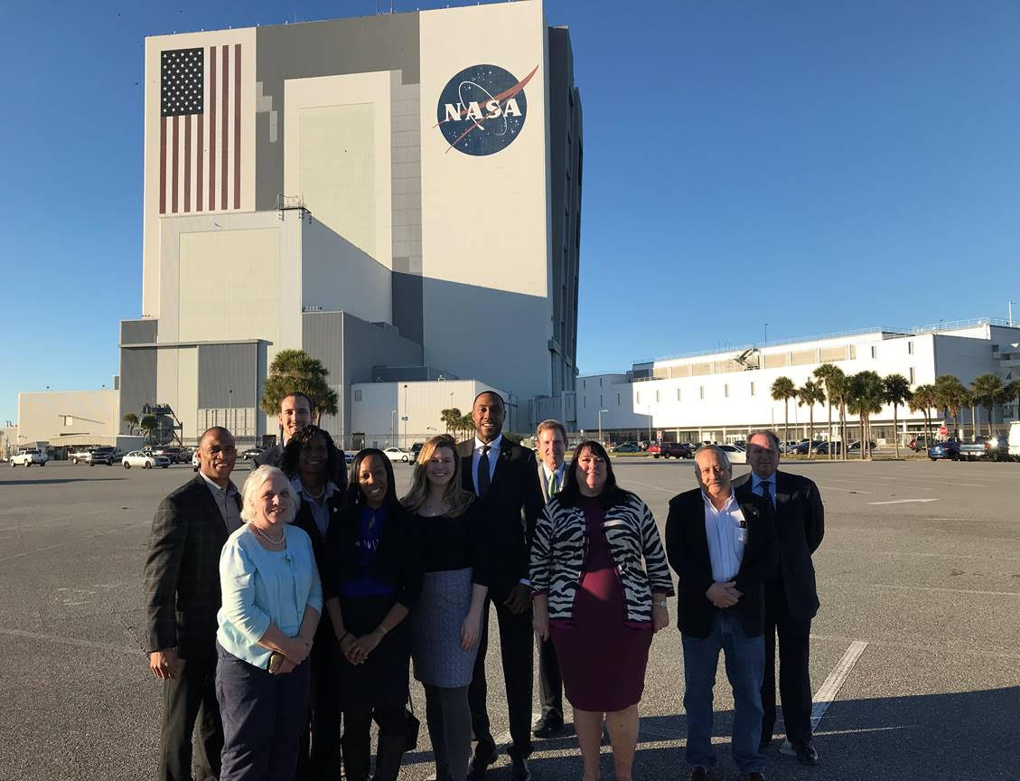 Executive Director Turner and his team tour the Kennedy Space Center during an Opportunity Zones trip to the Florida Space Coast