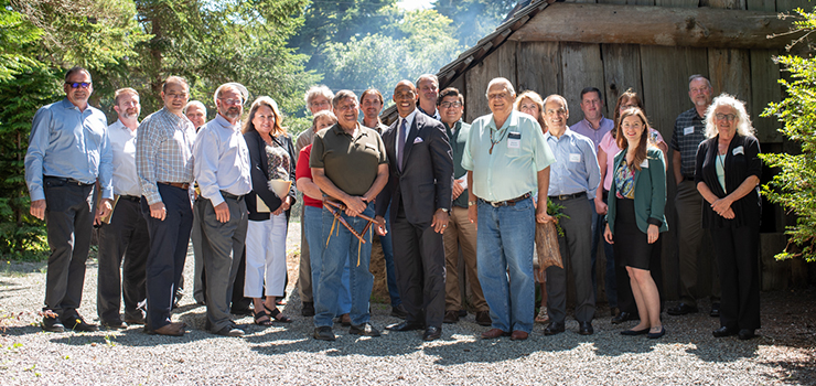 Executive Director Turner meets with tribal leaders in Coos Bay, OR