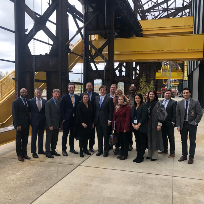 Deputy Secretary of Commerce Karen Dunn Kelley leads White House Opportunity and Revitalization Council staff in a Pittsburgh Opportunity Zone visit