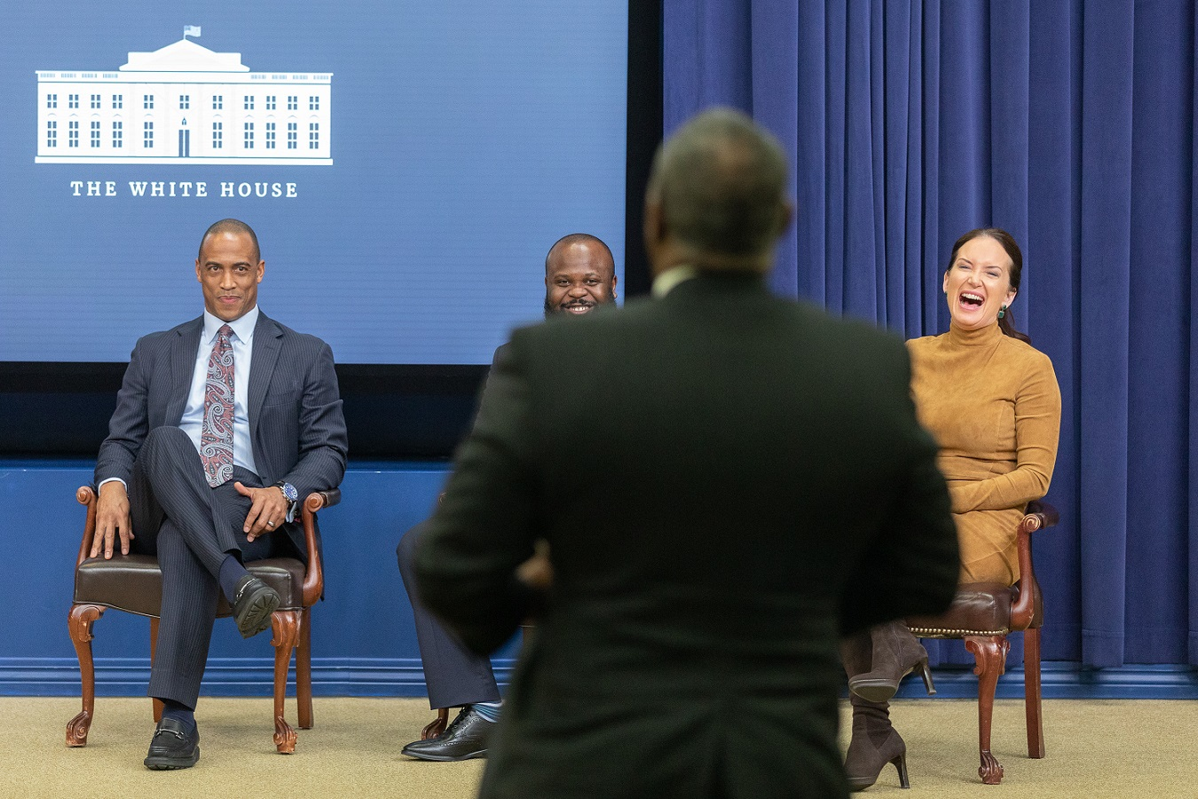 Executive Director Turner and Ja'Ron Smith and Brooke Rollins of the Office of American Innovation lead an entrepreneurship event at the White House